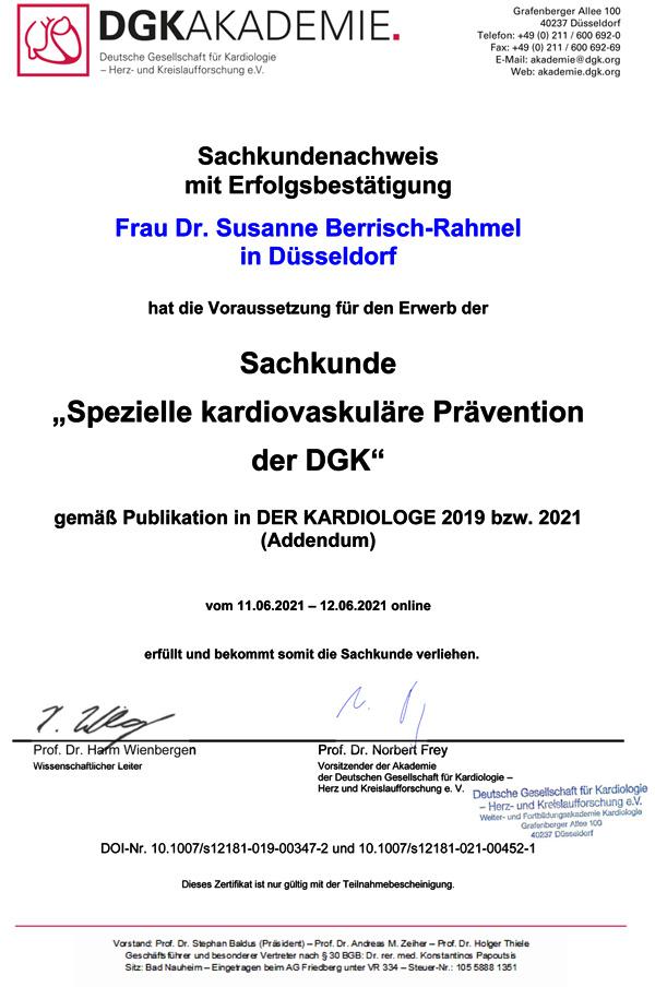 """""""Spezielle kardiovaskuläre Prävention"""" der DGK"""