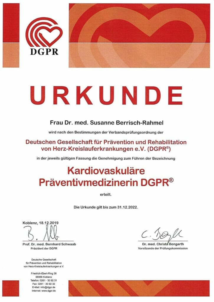 Eine der besonderen Kompetenzen der KardioPro Privatpraxis für Kardiologie in Düsseldorf ist die Prävention